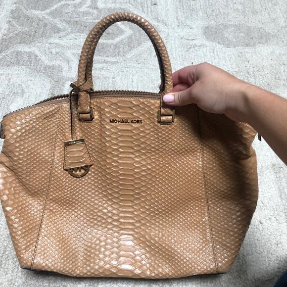 Michael Kors Handbags - Michael Kors Faux Skin Handle Bag
